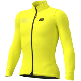 Alé Cycling Solid Color Block Longsleeve Jersey Heren, fluo yellow